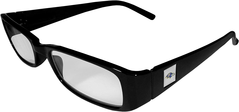 1.75 Black NFL Siskiyou Sports Fan Shop Baltimore Ravens Classic Reading Glasses Reading Power: