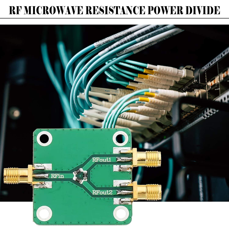 FairytaleMM Modulo di distribuzione dellalimentazione del resistore di resistenza a microonde RF Splitter 1 a 2 SMA-K DC-5GHz Divisore di radiofrequenza verde
