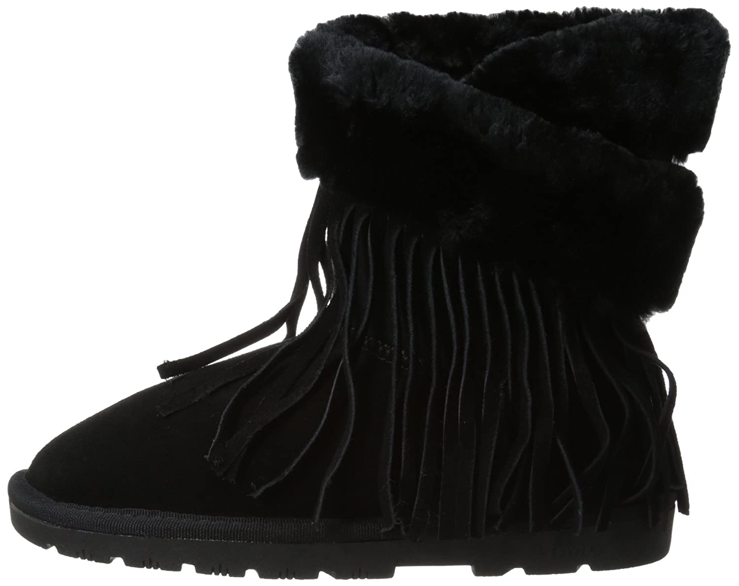 Lamo Women's Fringe Wrap Boot B00PWXYEKC 11 B(M) US|Black