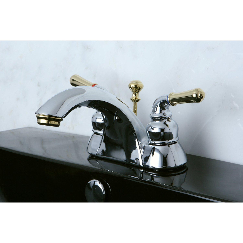 Kingston Brass KB2624 Naples 4-Inch Centerset Lavatory Faucet ...