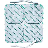 """FITOP 44 Pcs 2""""X2"""" Square Electrode Pad for TENS Unit with Durable Gel (11 Packs) …"""