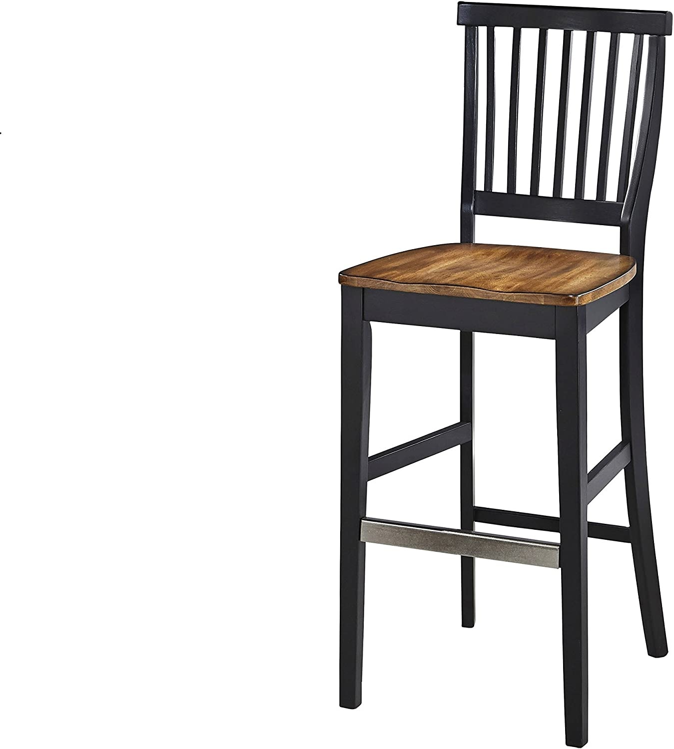Americana Black Bar Stool by Home Styles
