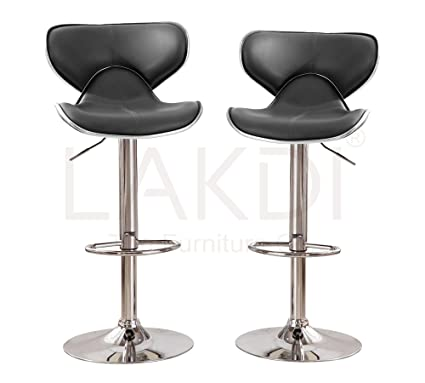 Lakdi Adjustable Height Horse Shape Bar Stool Bar Chairs Set Of 2