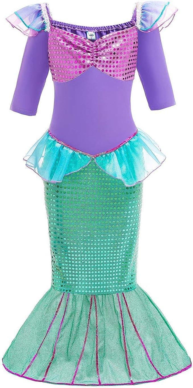 FYMNSI Disfraz De Sirena Niña Bebé Princesa Carnaval Fiesta ...