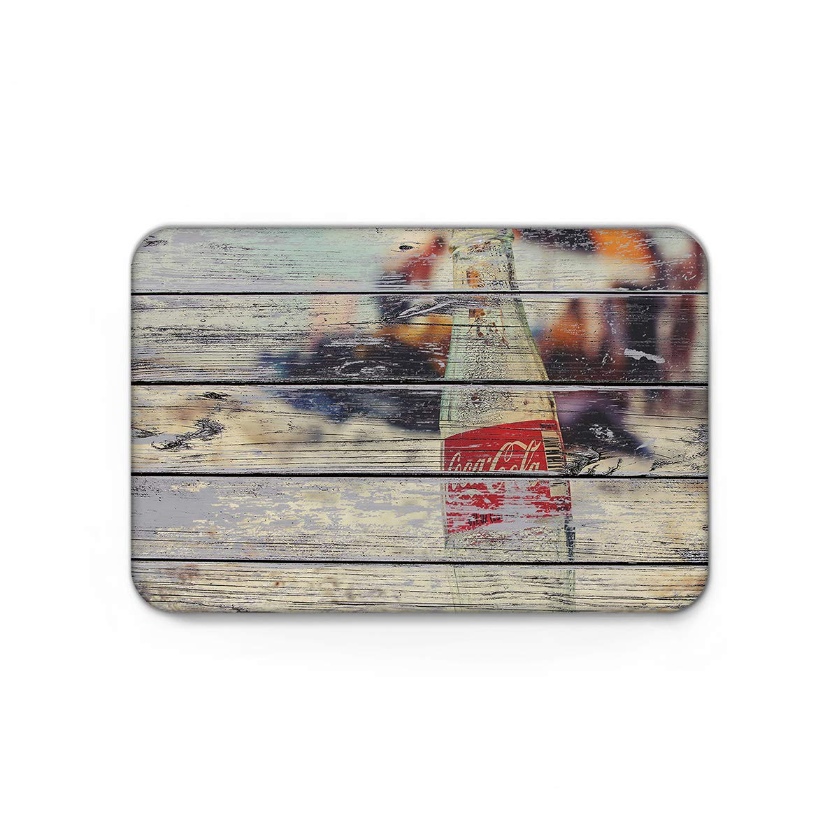 Retro Wood Grain Pattern of Coke Mat