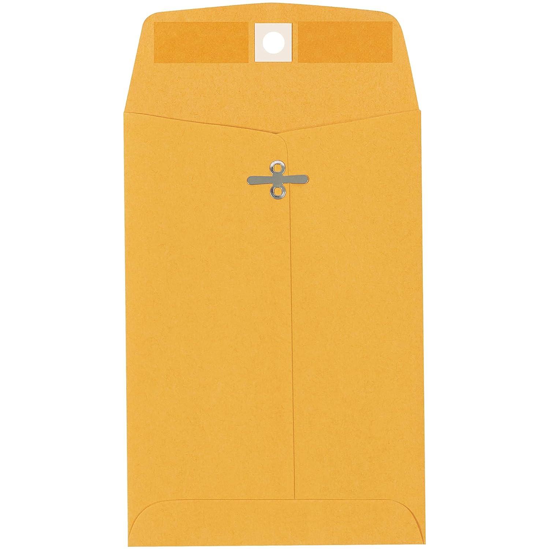 Clasp Envelopes 5 x 7 1//2 1000//Case Kraft