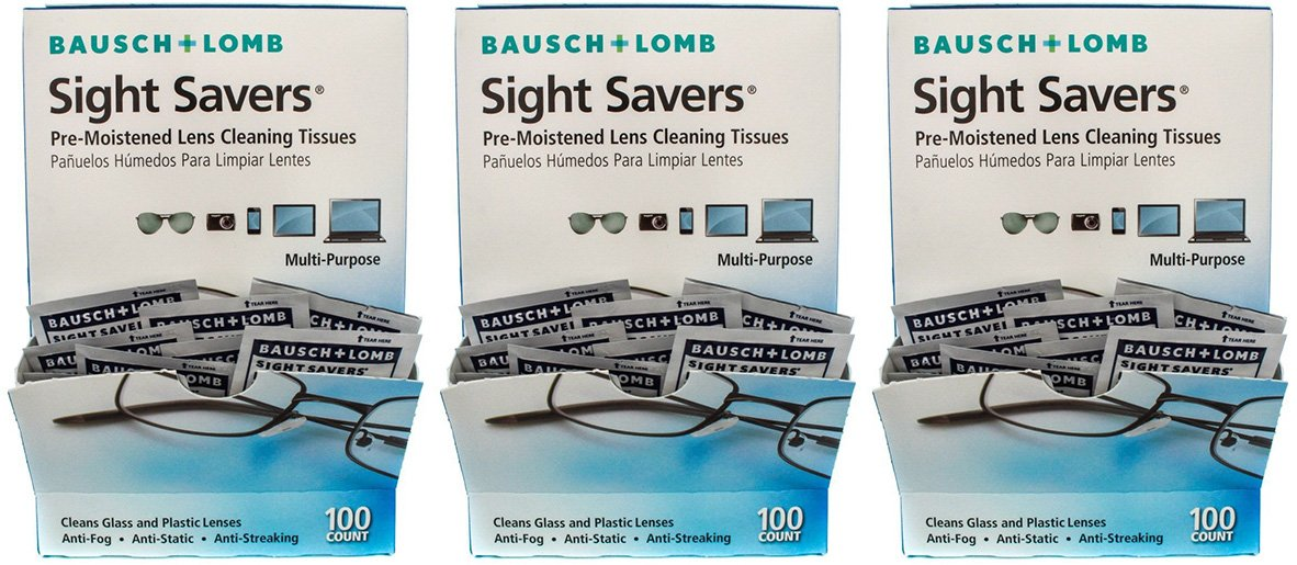 19b39935dd37 Bausch and Lomb Sight Savers Pre-Moistened Lens Cleaning Tissues, 300 Count  by Bausch