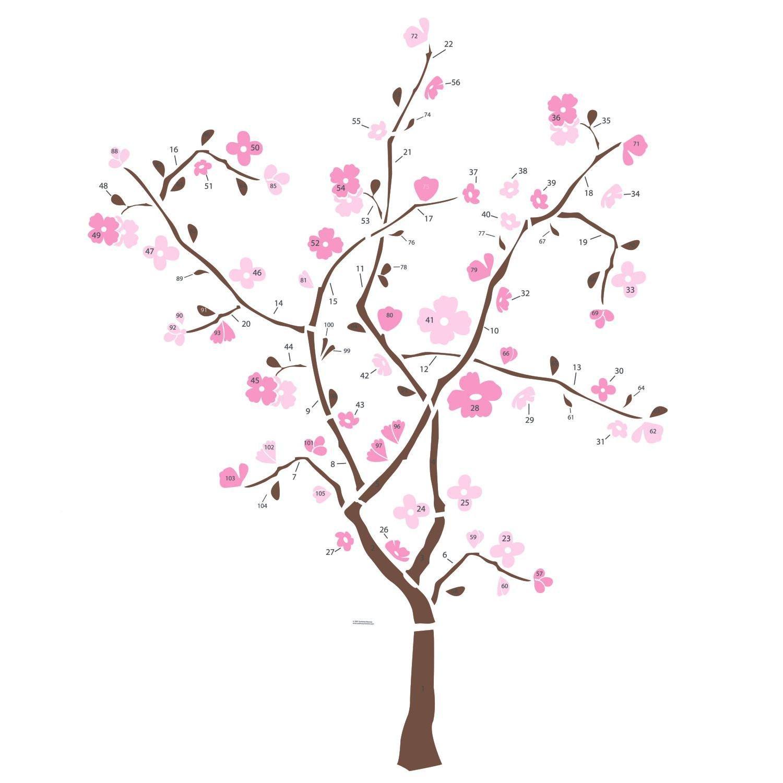 roommates rmk1555gm spring blossom peel stick giant wall decal roommates rmk1555gm spring blossom peel stick giant wall decal wall decor stickers amazon com