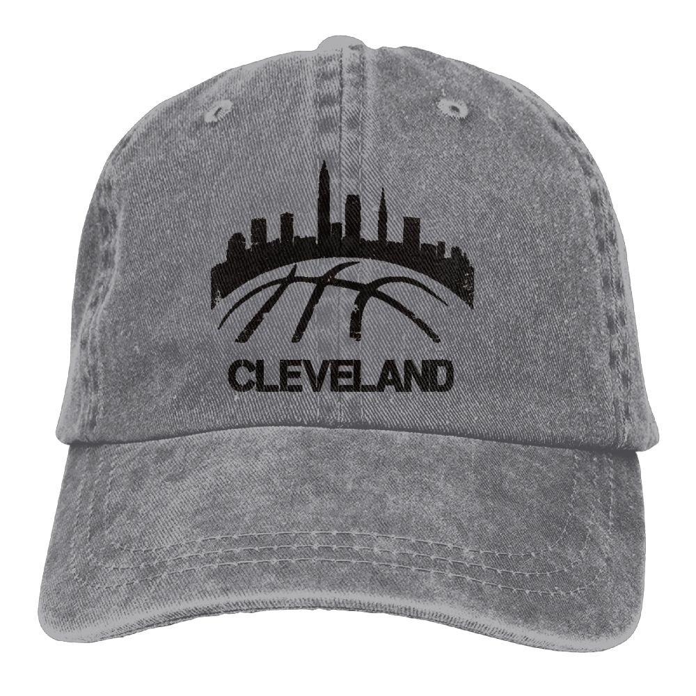Trableade Old Cleveland Basketball Skyline Adult Sport Adjustable Structured Baseball Cowboy Hat