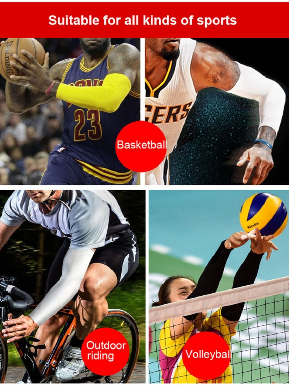 Running Arm Sleeves Basketball Elbow Pad Fitness Armguards Breathable Quick Dry Uv Protection Sports Cycling Arm Warmers Men's Accessories Apparel Accessories