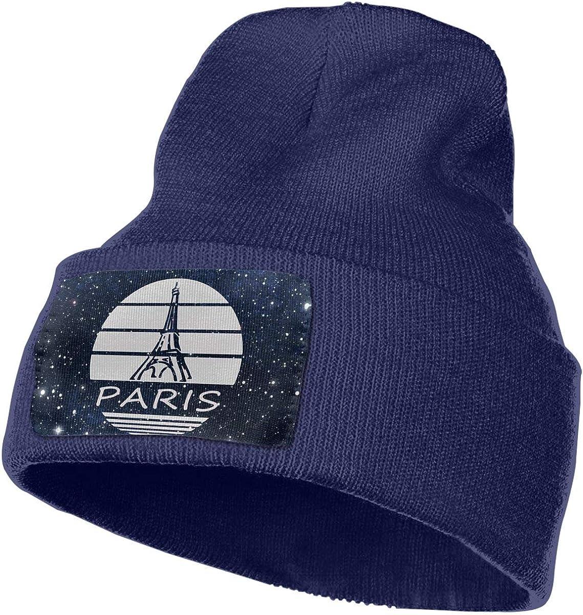 Paris Eiffel Tower Men /& Women Skull Caps Winter Warm Stretchy Knitting Beanie Hats