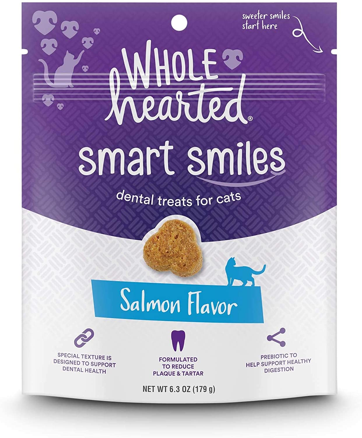 WholeHearted Smart Smiles Salmon Flavor Cat Dental Treats, 6.3 oz.