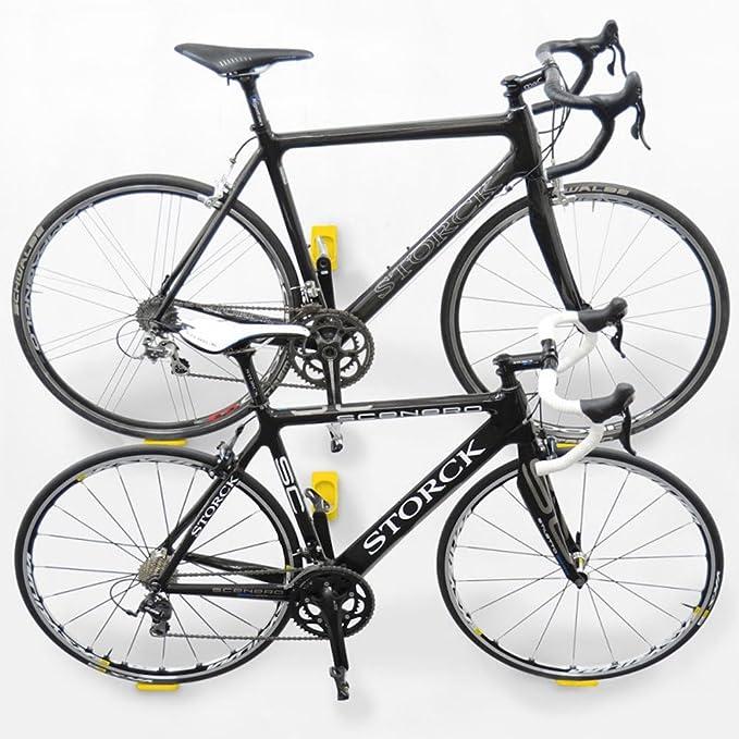 Cycloc Hero Indoor Bicycle Holder Montado en Pared Amarillo - Soporte de Bicicleta: Amazon.es: Deportes y aire libre