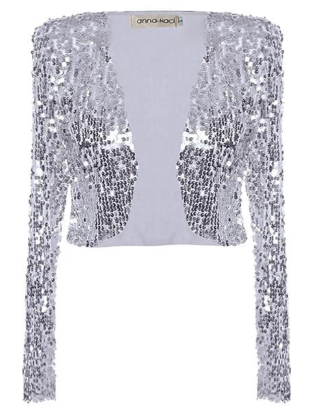 Amazon.com: Blazer Anna-Kaci brillante con lentejuelas ...
