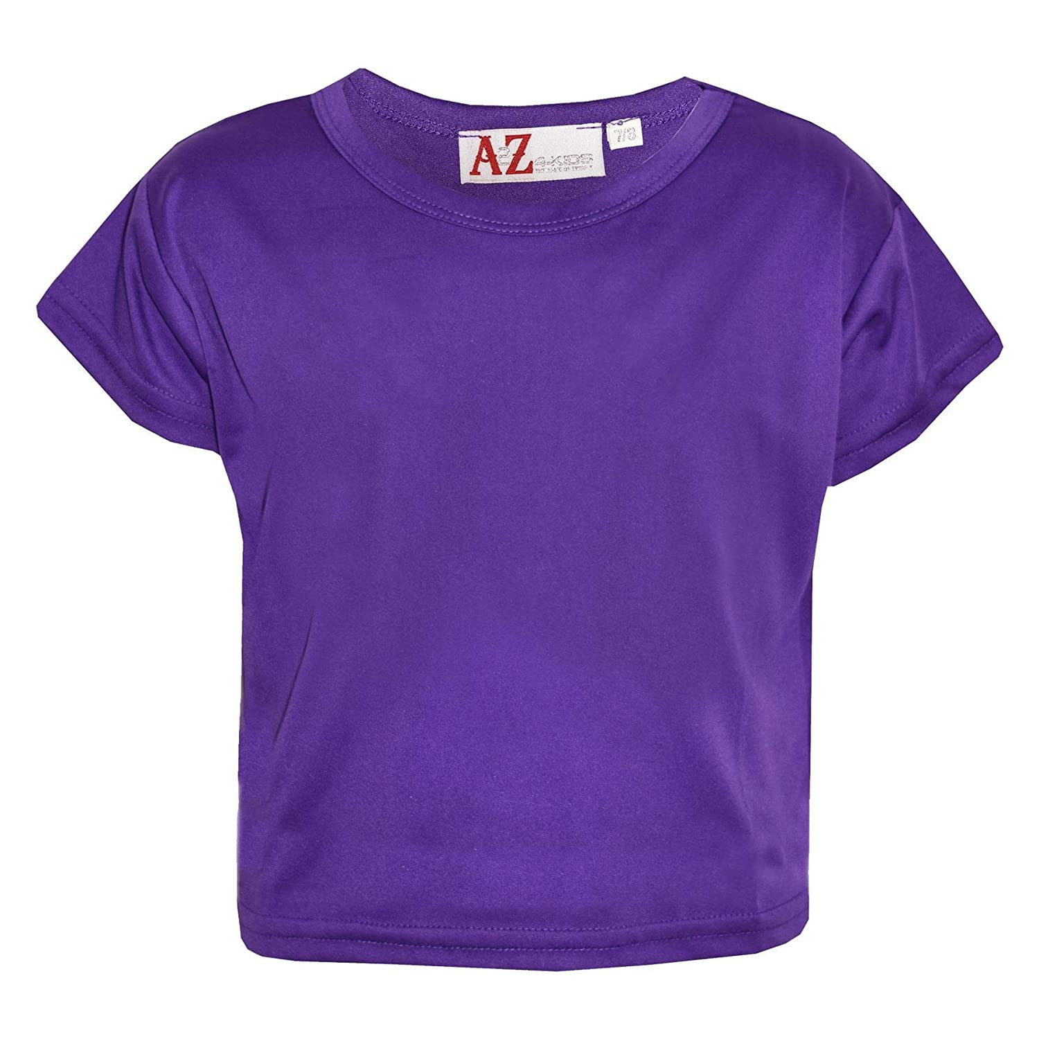 A2Z 4 Kids/® Girls Top Kids Plain Color Stylish Crop Top /& Fashion Skater Skirt Set New Age 7 8 9 10 11 12 13 Years