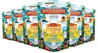 product image for Birch Benders Plant Protein Pancake & Waffle Mix, Vegan, 10g Plant-Based Protein, Whole Grains, Just Add Water, Family Size, 6 Pack, 14 Oz
