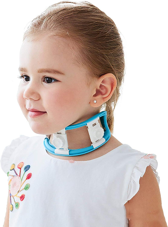 HYRL Corrector de tortícolis para bebés Ortesis de Cuello Torcido de Gel de sílice Ajustable para Desde 6 Meses a 7 años - Manejo eficaz de la tortícolis Muscular congénita