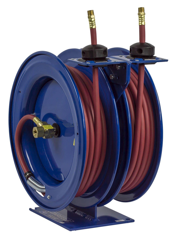 Coxreels C-LP-350-350 Dual Air Hose Reel, 3/8'' Hose ID, 50' Length
