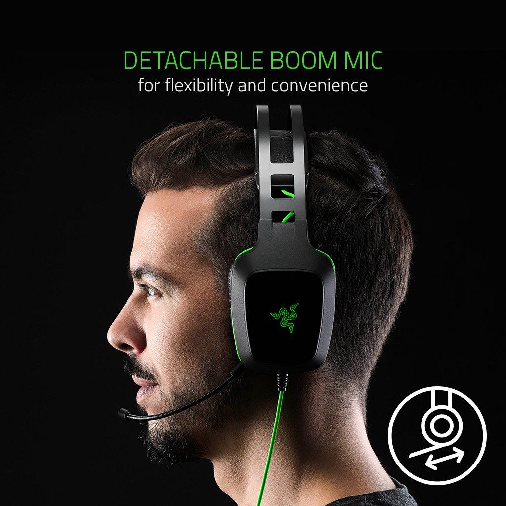 Razer Electra V2 USB Casque Num/érique pour le Jeu et la Musique Casque Gamer avec Son surround virtuel 7.1, Cadre Monocoque en aluminium et Haut-Parleurs de 40 mm