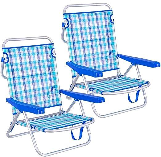 LOLAhome Pack de 2 sillas de Playa Convertibles en Cama de ...
