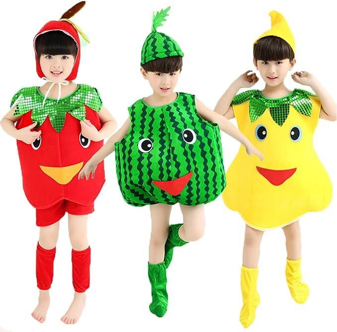 Disfraces de Halloween los niños/Adultos Ropa de Frutas Apple Pera ...