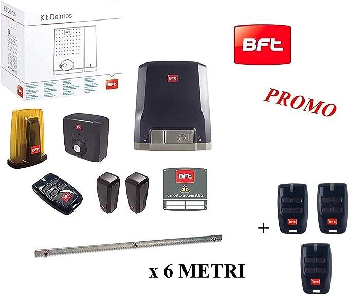 BFT Promo - Kit de puerta corredera automática Deimos Motor A600 24 V 600 kg R92527000002 + cremallera Hiltron 6 metros: Amazon.es: Bricolaje y herramientas