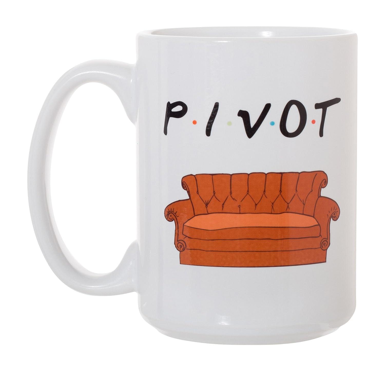 Pivot Friends Mug 15 oz Deluxe Large Double-Sided Mug Artisan Owl