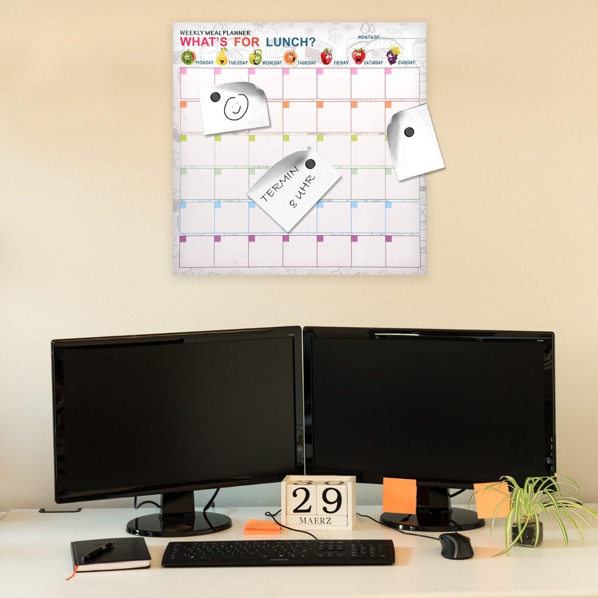 lavagnetta scrivibile cancellabile con Pennarello e Calamite bacheca 40x40 cm Stile Chevron Navaris Memo Board Lavagna Magnetica Diversi Design