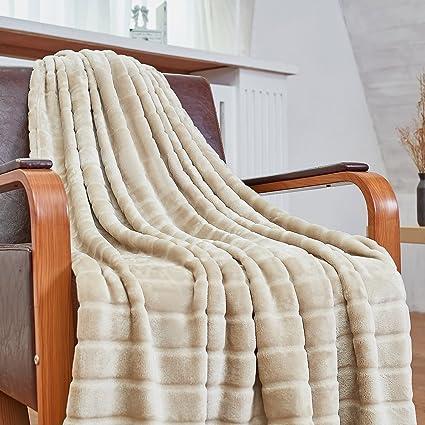 Amazoncom Bertte Ultra Velvet Plush Super Soft Decorative Stripe