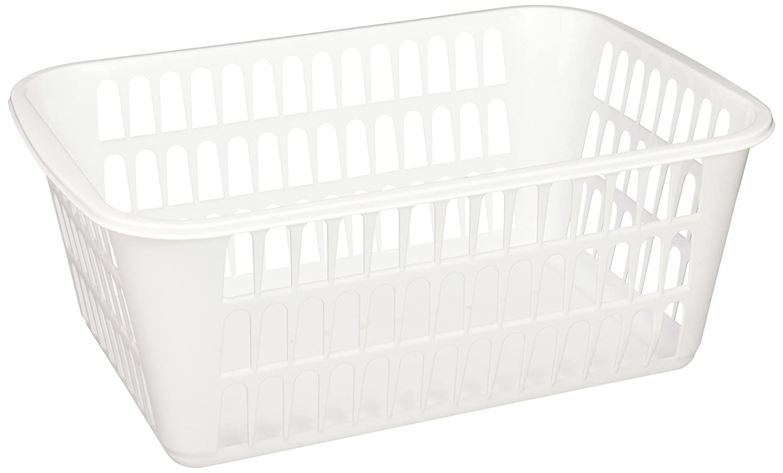 Sterilite 16098024 Large Storage Basket, White, 24-Pack