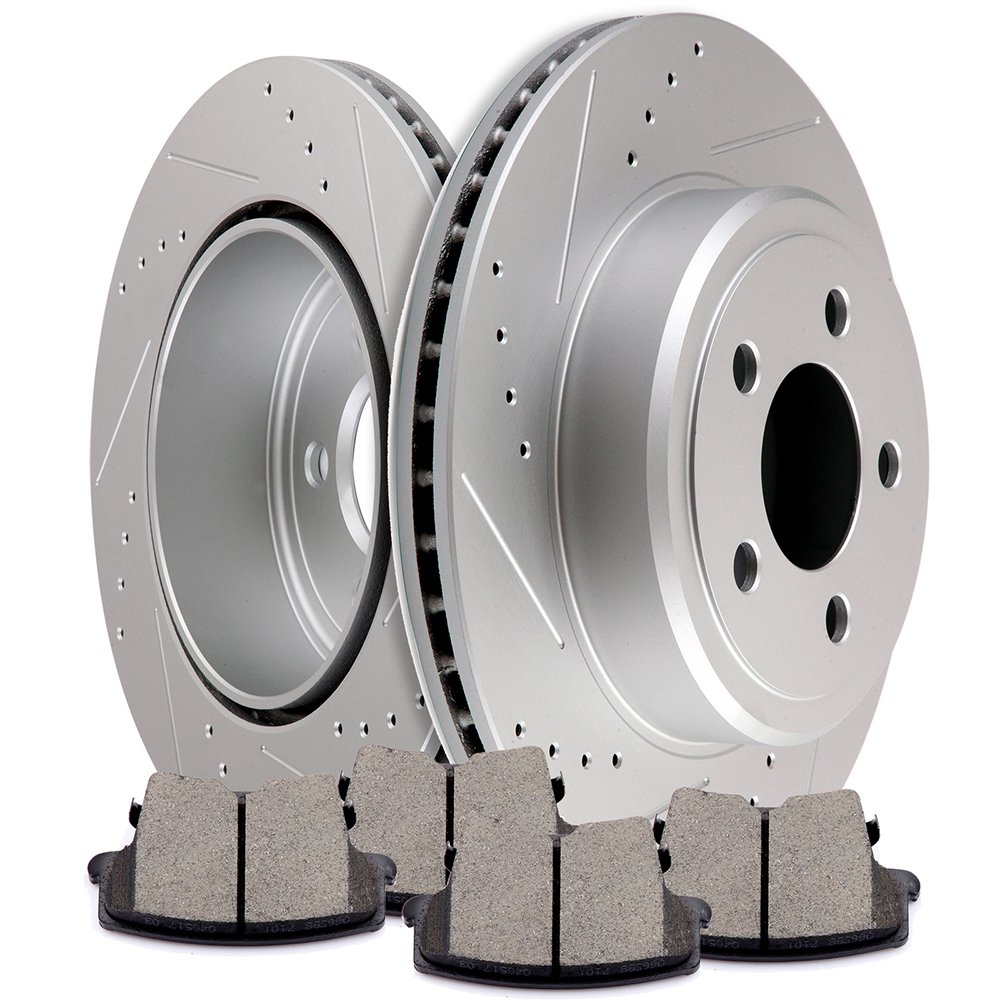 Rotors Metallic Pads R OE Replacement 2008 2009 Fit Dodge Charger See Desc.