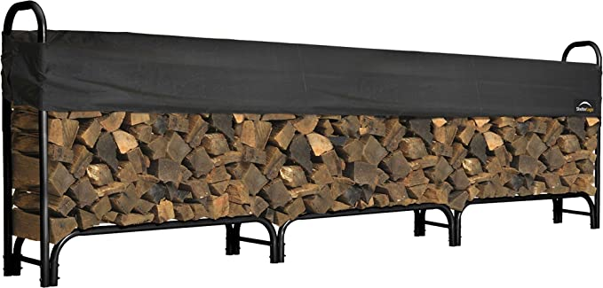 ShelterLogic Heavy Duty Outdoor Firewood Rack - Open Air Design