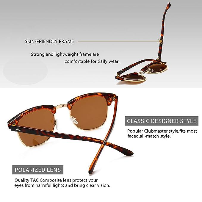 99715b44afa7 Amazon.com  SUNGAIT 80s Sunglasses Retro Semi Rimless for Men Women (Amber  Frame Brown Lens) 3016 HPKC  Clothing