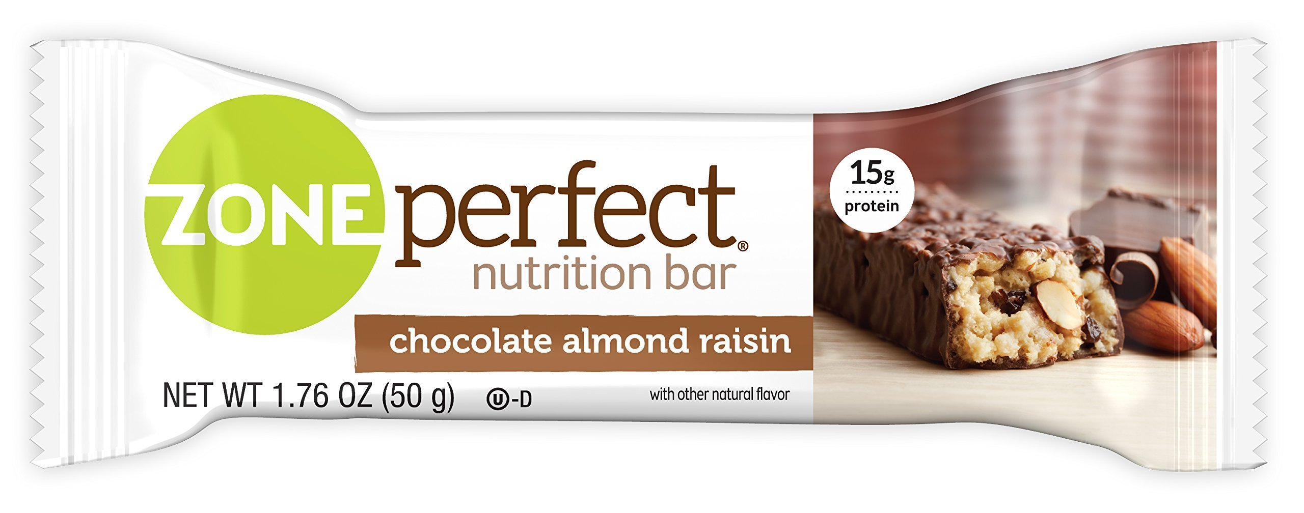 ZonePerfect Nutrition Snack Bars, Chocolate Almond Raisin. 1.76 oz, (30 Count)