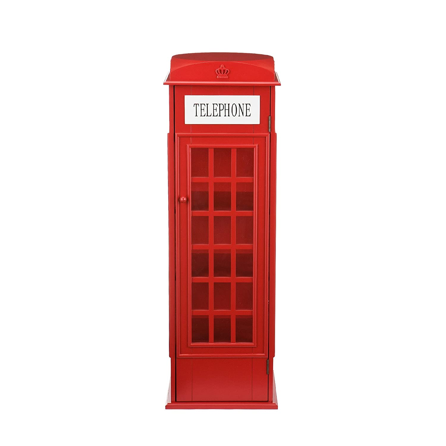 Wood Phone Booth Cabinet, Red: Amazon.co.uk: Kitchen & Home