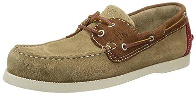 Mens Phenis Boat Shoes, Sable/Cognac TBS