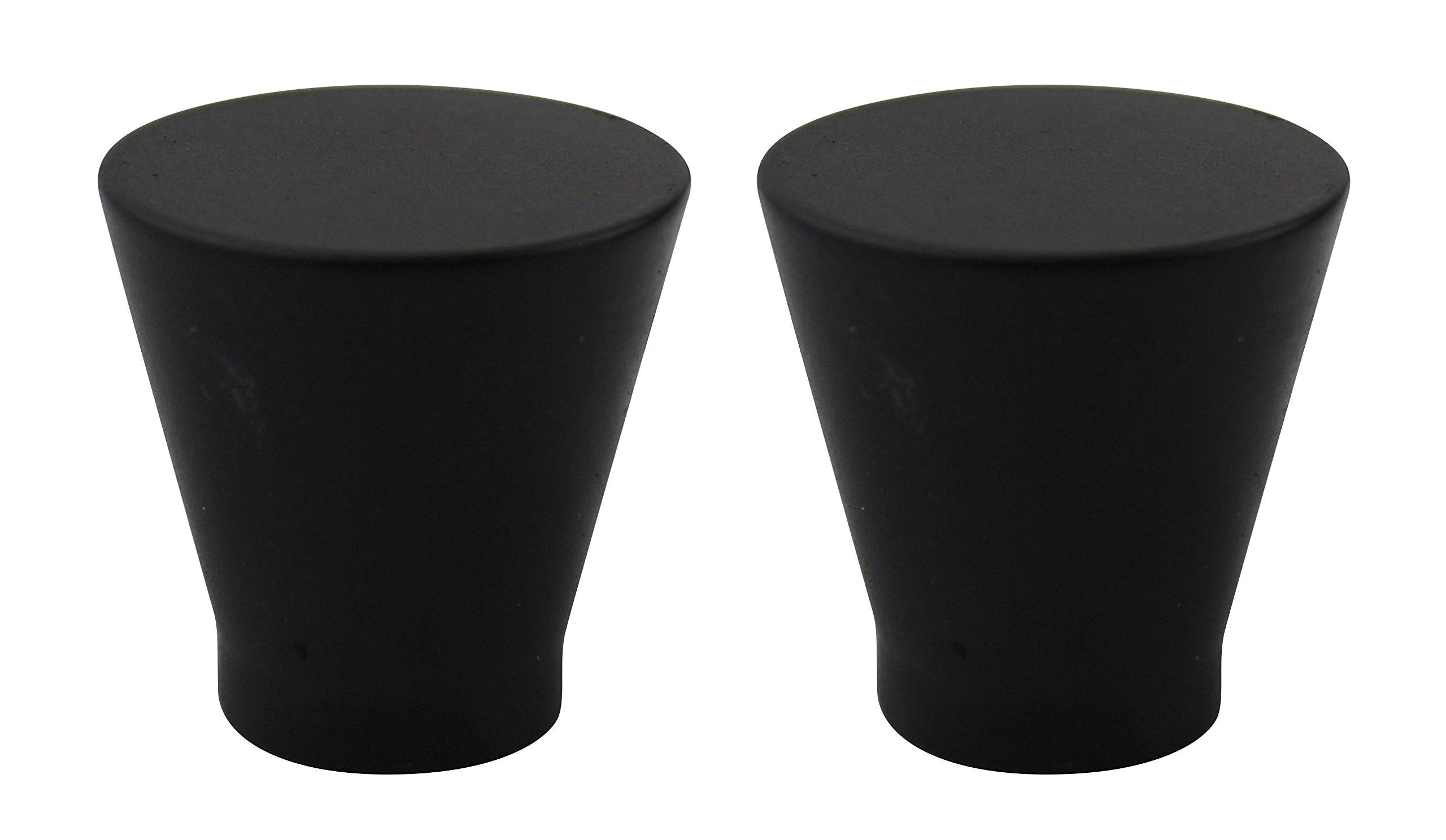 Urbanest Set of 2 Rino Lamp Finial, 1-inch Tall, Black