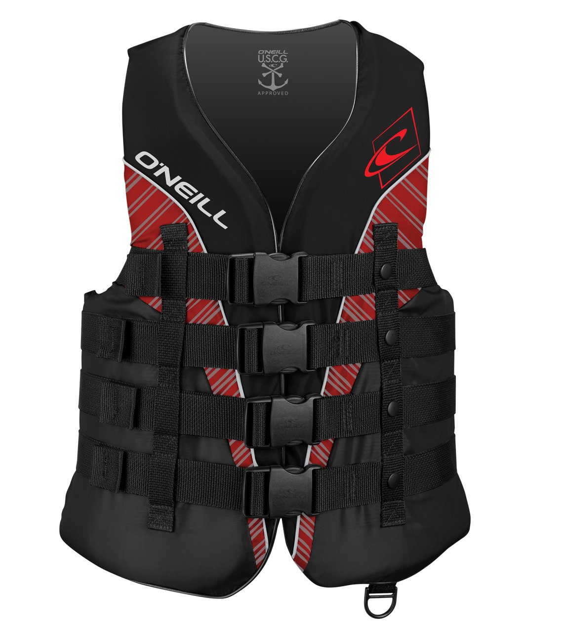 O'Neill   Men's Superlite USCG Life Vest,Black/Graphite/Red/White,Small by O'Neill Wetsuits (Image #1)