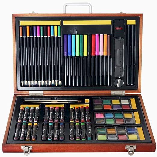 Uiophjkl Lápiz de Colores para Colorear Caja de Madera de los ...
