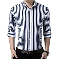 Peppyzone Men's Striped Slim Fit Semi Formal Shirt