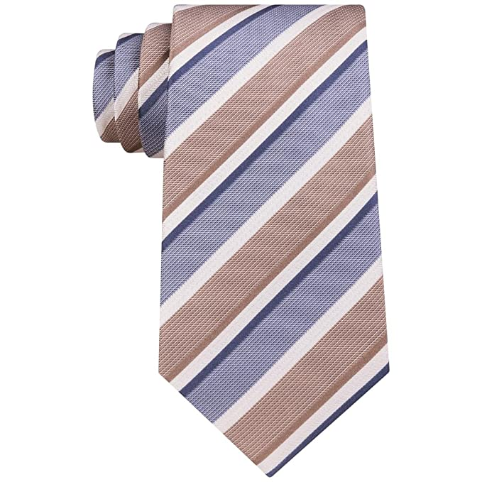 cb2d5e9a148e Amazon.com: Kenneth Cole Reaction Men's Texture Bar Stripe Taupe One Size:  Clothing