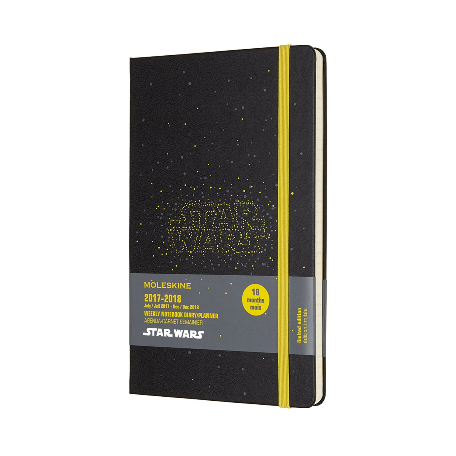 Moleskine Limited Edition Star Wars, 18 Month Weekly Planner, Large, Logo (5 x 8.25)
