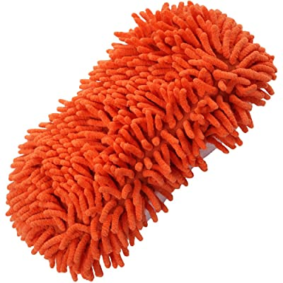 Clean at Last 80-71238 Orange Microfiber Washing Sponge: Automotive