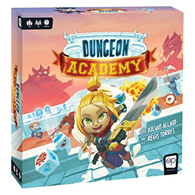 Dungeon Academy | Roll & Write Maze Board Game | Each Roll Creates Unique Dungeon Mazes | Collect Life Points & Mana, Fight Monsters, and Earn Treasure to Master The Academy | Family Board Game: Toys & Games