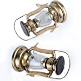 Solar Hanging Lantern, LifeGenius Rustic Vintage