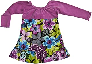 product image for Cheeky Banana Sweet Little Girls Peasant Dress Lilac/Plum & Floral Multi