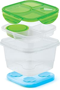 Good Cook Salad & More GoodCook 10223 Square Meals Salad and More Set with Ice Pack, Multisize, Multicolor