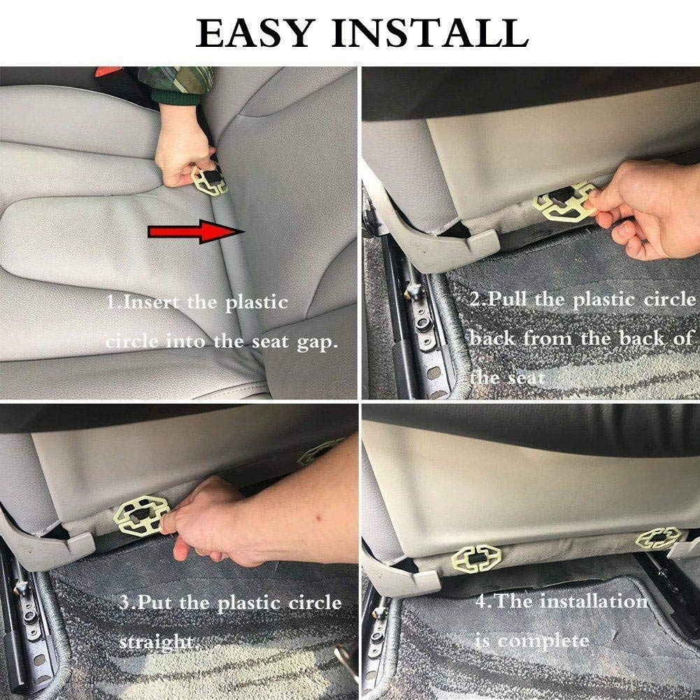 Black with Table Tray 2PC JAUTO Car Back Seat Organizer with ...