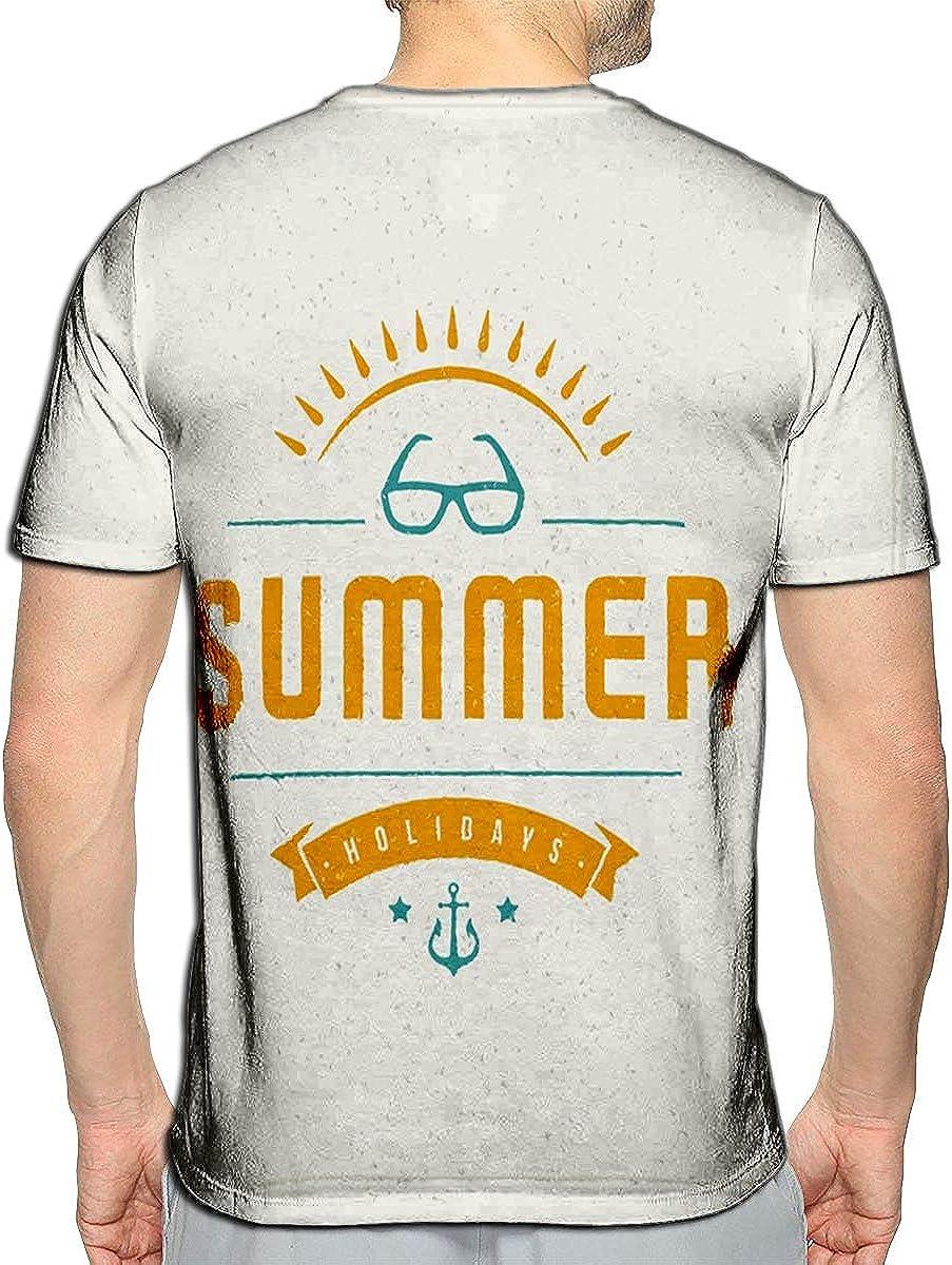 3D Printed T-Shirts Summer Holidays Enjoy Short Sleeve Tops Tees