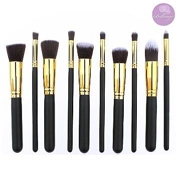 Bellangé Makeup Brush Set-10 Pieces-Kabuki Brushes-Best Makeup Brushes including Foundation